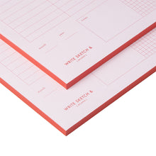 Load image into Gallery viewer, PINK & RED WEEKLY PLANNER NOTEPAD