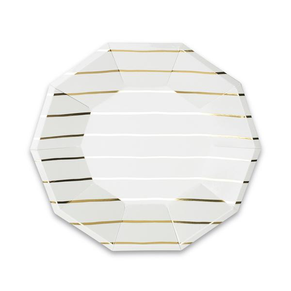 GOLD STRIPE LARGE PLATES