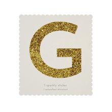 Load image into Gallery viewer, GOLD GLITTER LETTER STICKER