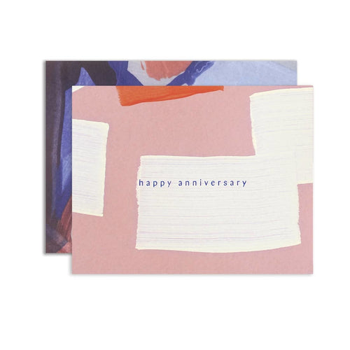 HAPPY ANNIVERSARY PINK CARD