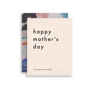 FAVORITE CHILD MOTHER'S DAY CARD