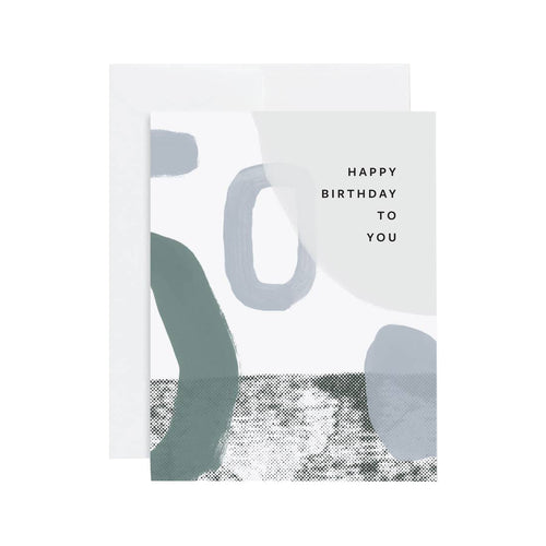 HBD ABSTRACT BLUE CARD