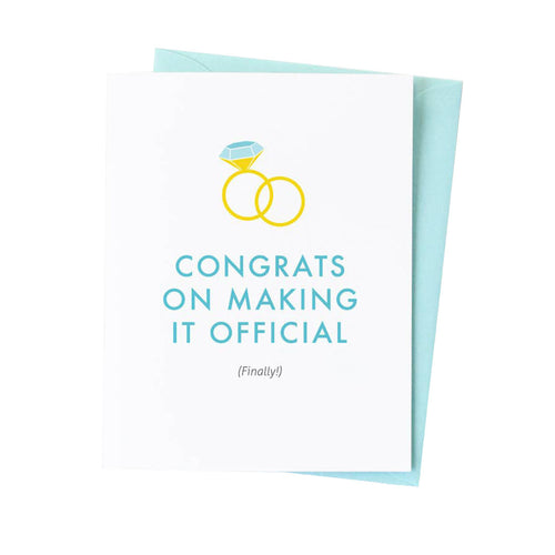 CONGRATS FINALLY OFFICIAL CARD