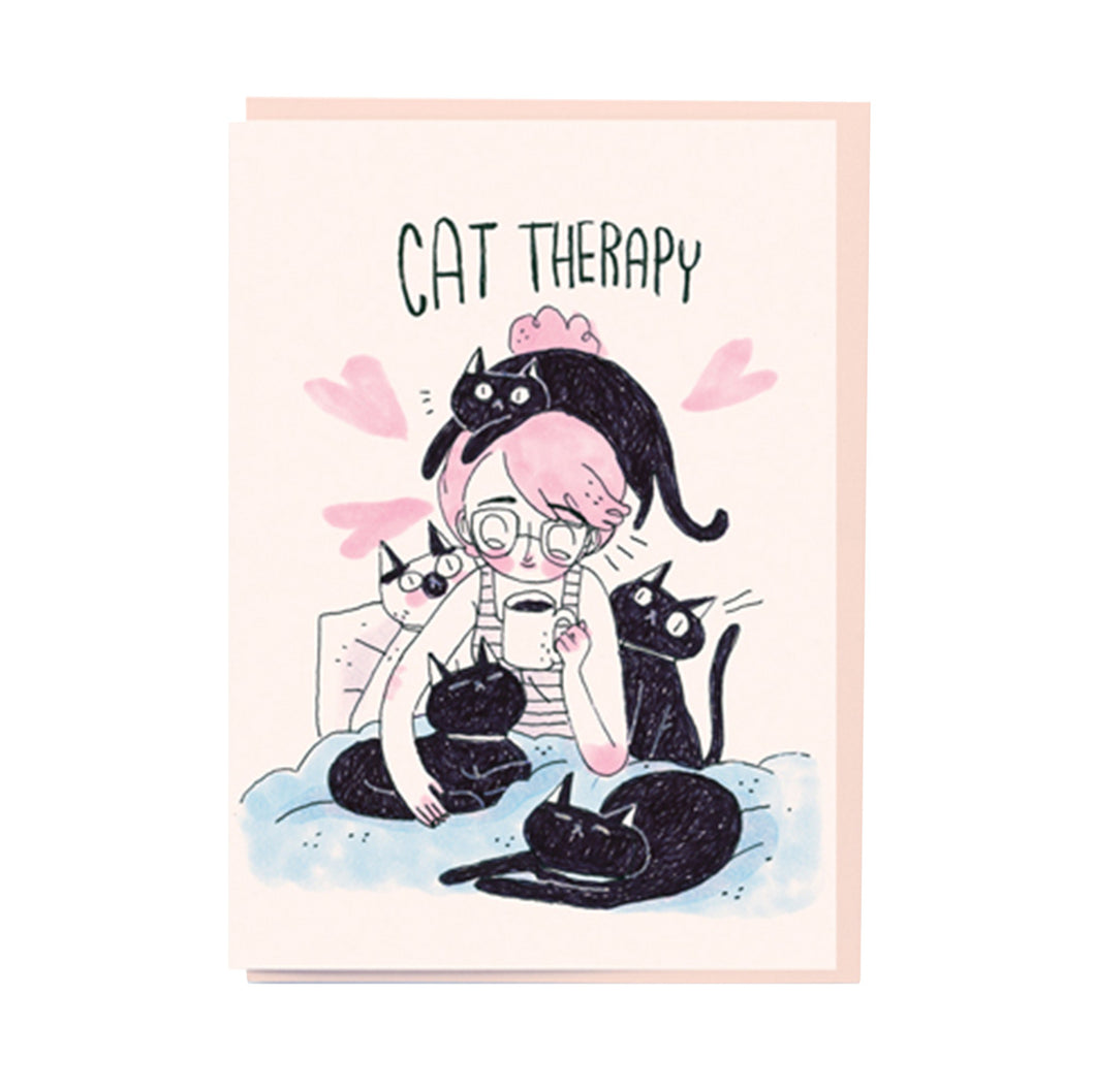 CAT THERAPY CARD