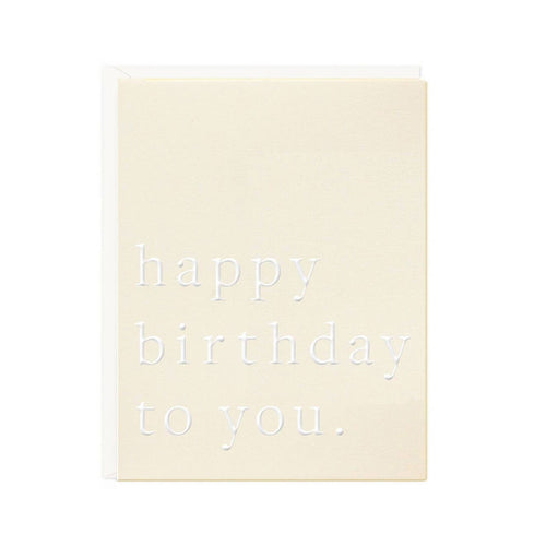 HBD TO YOU CARD