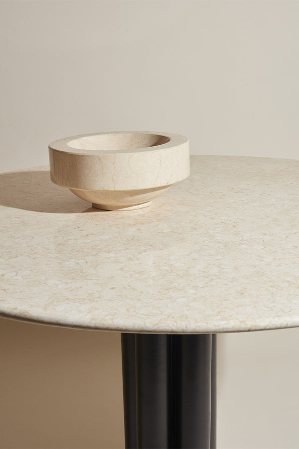 Louise Roe Gallery Object Bowl in beige Moleanos marble - Mette Collections Australia (4525402718307)