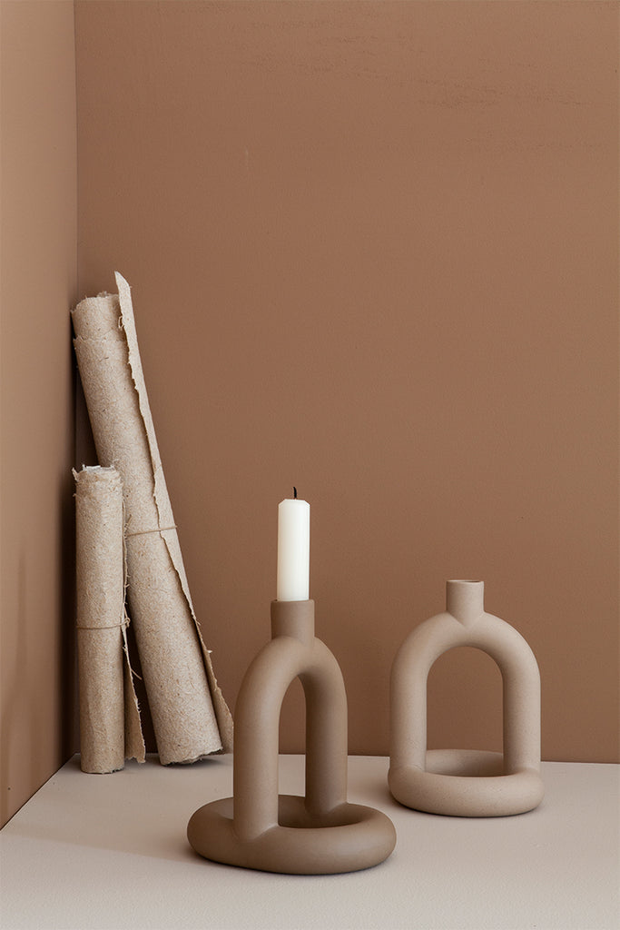 Kapp Sculptural Candleholder – Single  - Mette Collections Australia (4442329415779)