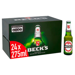 Becks Bier Premium Lager 24 x 275ml Bottles