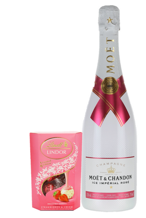 Moet Ice Rose Gift Set