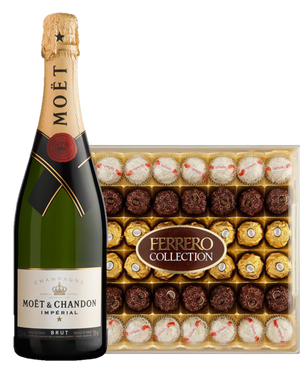 Moet and Ferrero Collection Gift Set