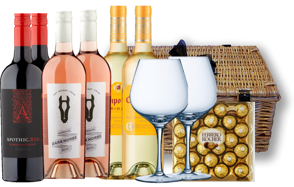 White, Rose & Red Wine Selection Hamper