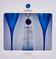 Ciroc Premium Vodka 20cl & Two Ciroc Glasses Giftset