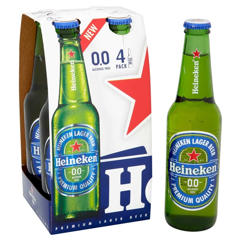 Heineken 0.0% Alcohol Free Beer 24 x 330ml
