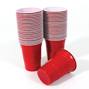 Red American Plastic Party Cups 450ml / 16oz – Pack of 40