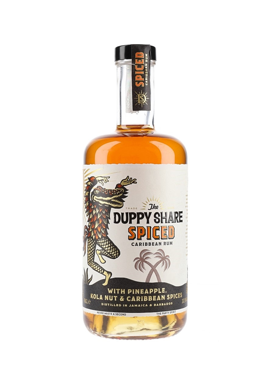 The Duppy Share Spiced Rum 70cl + 2 Duppy Share Gold Cups