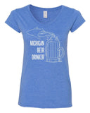 Women's Softstyle™ V-Neck T-Shirt With MBD Logo
