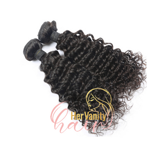 CURLY RAW PERUVIAN BUNDLE - HER VANITY HAIR