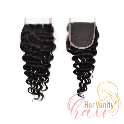CURLY PERUVIAN HD LACE CLOSURE - HER VANITY HAIR