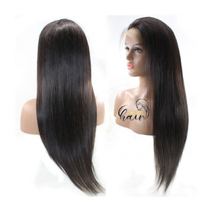 Peruvian Straight Full Lace Frontal Wig - HER VANITY HAIR