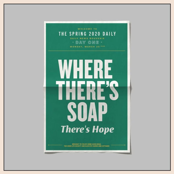 Where there's soap there's hope