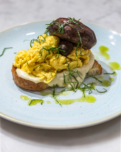 Scrambled Eggs on Sourdough