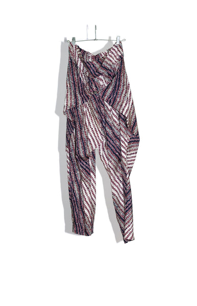 "EXOTICA WRAP PANT IN ""BLANKET STRIPE"" - 50% OFF"