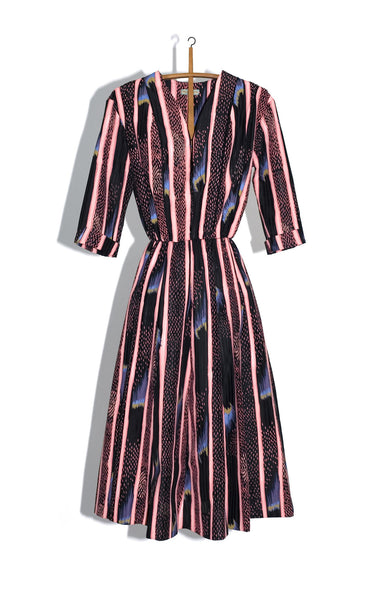 GORED DECORATOR'S SHIRTDRESS