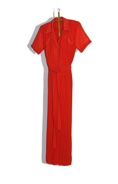 KNIFE-PLEATED SHIRTDRESS WITH 'S' POCKETS - 50% OFF