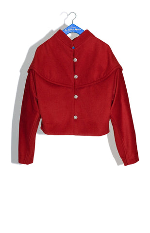 RUDINE CHUBBY JACKET IN OXBLOOD CASHMERE