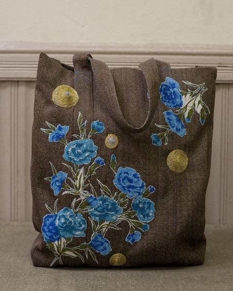 """Couch"" Appliqued Tote"