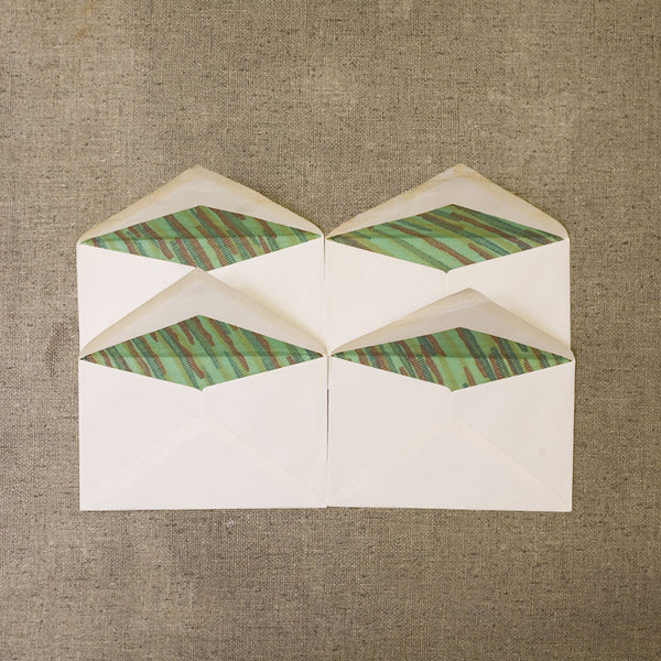 1930s Portuguese Envelopes with Green Lining - Set of 4