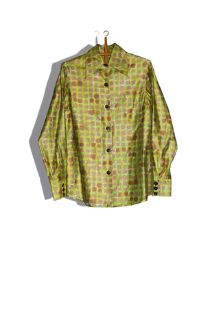 "1940's MEN'S PYJAMA BUTTON-UP IN ""INKBLOT CAMO"""