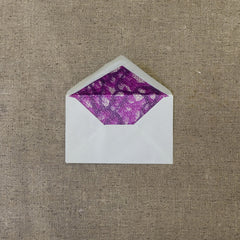 "1930s Portuguese Envelopes in Pale Blue with ""Vivid Magenta"" Lining - Set of 20"
