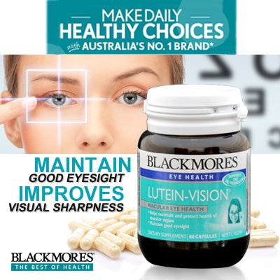 Blackmores Lutein Vision supports eye health 60 capsules
