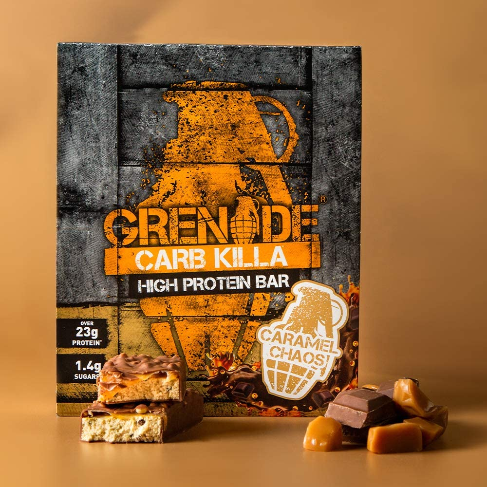Grenade Carb Killa High Protein and Low Sugar Candy Bar helps Build Muscle, Snack