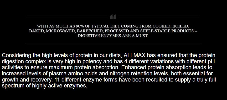Allmax Nutrition Digestive Enzymes and Protein Optimizer 3