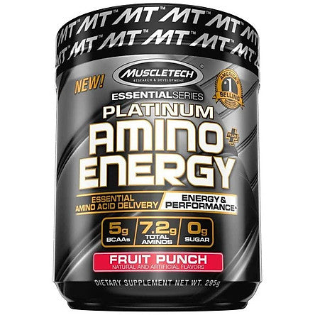 MuscleTech Amino Energy has 5g of fully revealed BCAA to promote post-workout recovery - Ultimate Sup