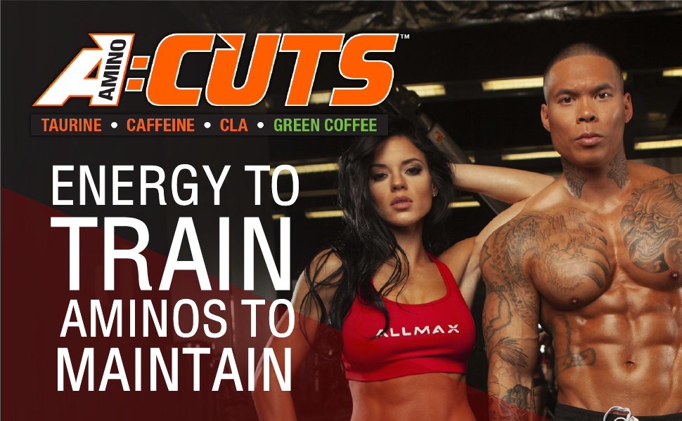ALLMAX Nutrition, AMINO CUTS, Amino-Charged Energy Drink Build Muscle & Fat Burn, 210 g