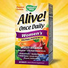 Nature's Way, Alive! Once Daily Women's Ultra Potency Multi-Vitamin, 60 Tablets