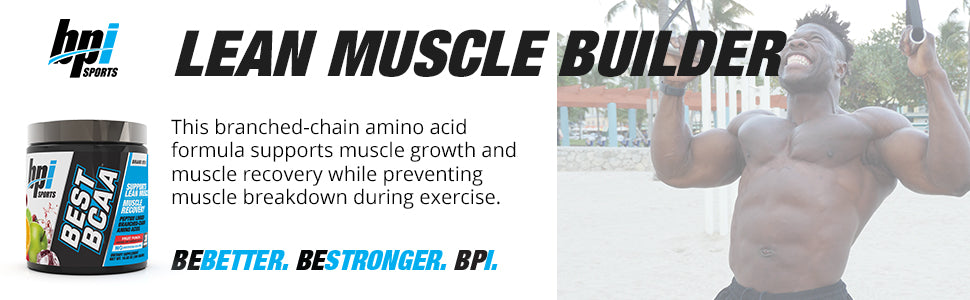 BPI Sports, Best BCAA support Muscle Recovery | Protein Synthesis | Build Lean Muscle