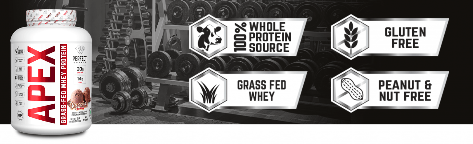Perfect Sports Apex Grass-Fed 100% Pure Whey Protein Concentrate