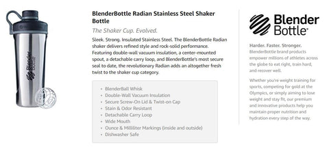 Blender Bottle Stainless steel bottle