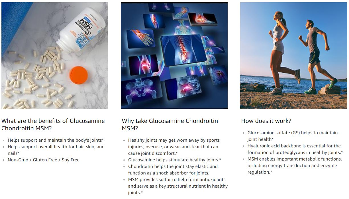 Doctor's Best, Glucosamine Chondroitin MSM with OptiMSM