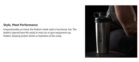 Blender Bottle Stainless steel bottle black