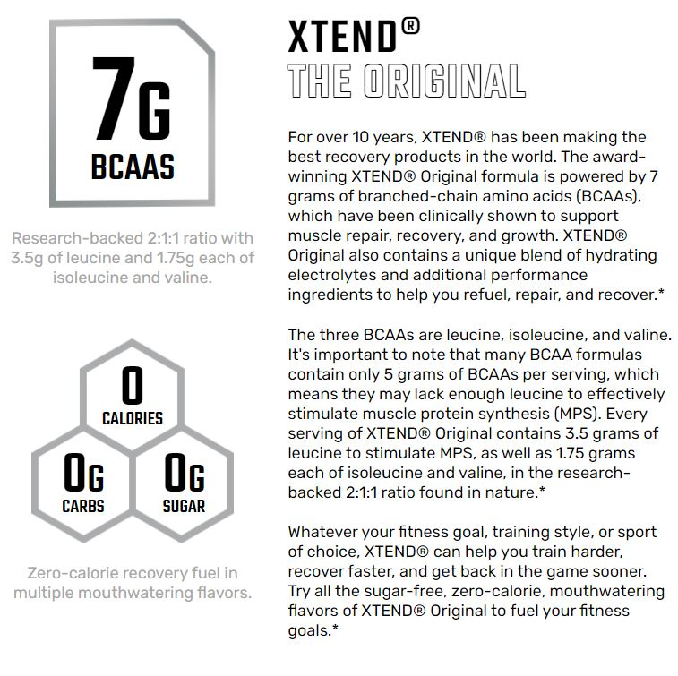 Xtend The Original 7G BCAA | Muscle Recovery | Intra Workout | 30 - 90servings