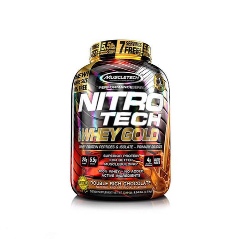NitroTech Whey Gold promotes muscle recovery, supports insulin response, and improves assimilation - Ultimate Sup