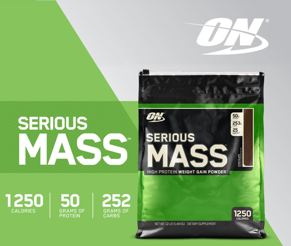 Optimum Nutrition Serious Mass Gainer, 6-12lbs, 1250 kcal