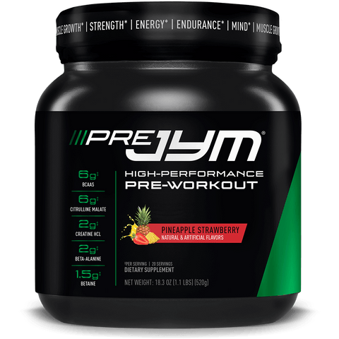 Pre JYM includes 13 additional pre-workout active ingredients - Ultimate Sup