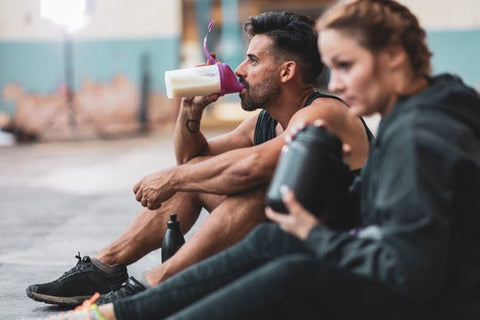 protein powder with milk or water