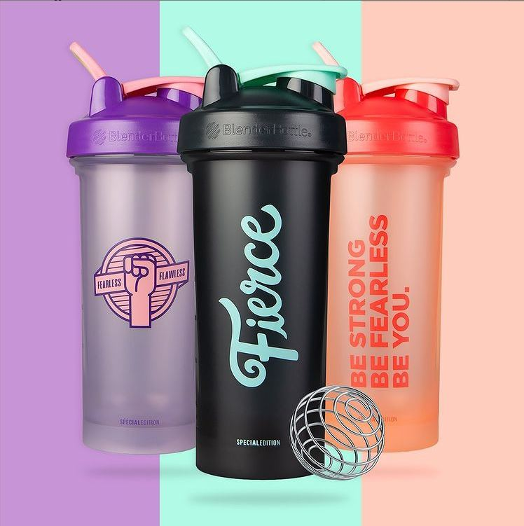 Blender Bottle Motivational Quote & Color of the Month Edition Classic w/ Loop V2 | Protein Shaker 28oz